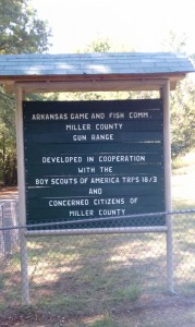New Miller County Gun Range Sign - Jim Weaver