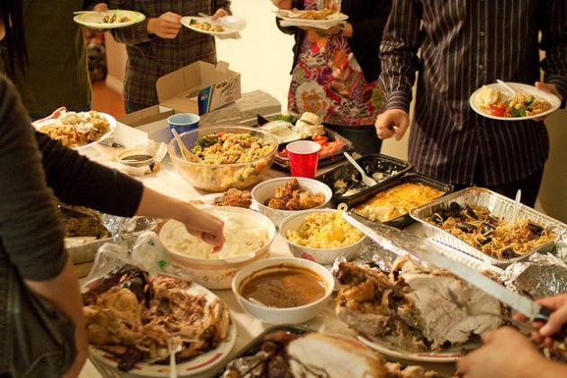 Thanksgiving Dinner filling plates - credit arfsb - Flikr