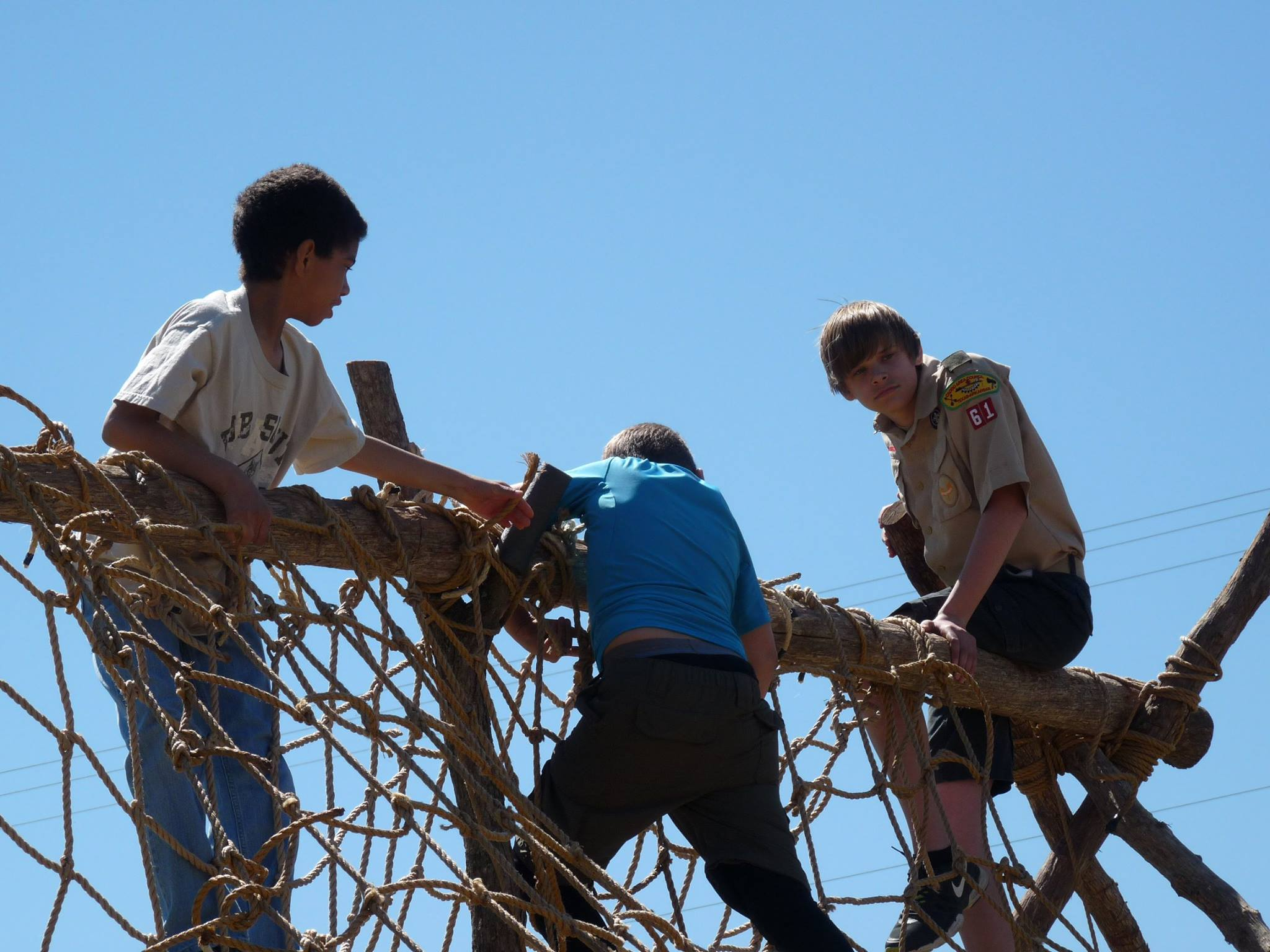 Rope Ladder with climbers